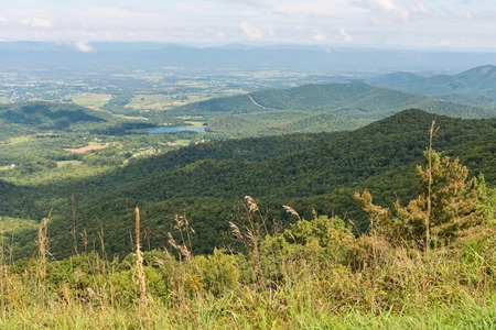 overlook: Mountain Vista from Stony Man Mountain Overlook, Skyline Drive, Shenandoah National Park, Virginia