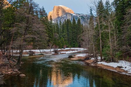 Half Dome at dusk, Yosemite National Park, California photo