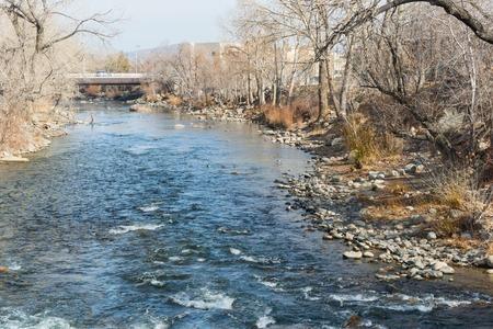 The Truckee River through downtown Reno, Nevada photo