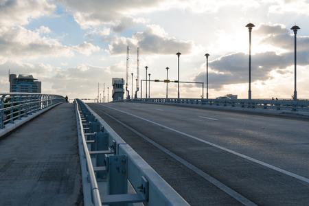 drawbridge: Drawbridge in early morning, Fort Lauderdale, Florida
