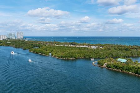 port everglades: John U. Lloyd Beach State Park and the Stranahan River, Port Everglades, Fort Lauderdale, Florida