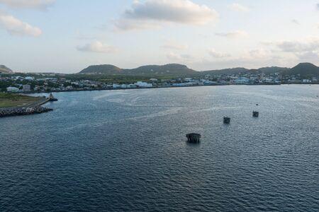 dawns: Morning dawns on Basseterre Bay, St. Kitts