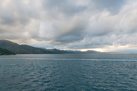 inlet bay: A cloudy afternoon off the north coast of Haiti Stock Photo