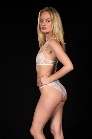 hungarian: Beautiful young Hungarian blonde in white lingerie