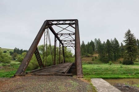 palouse: Railroad bridge over the Palouse River, Elberton, Washington
