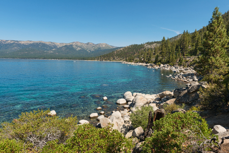 nevada: Lake Tahoe from Memorial Point, Lake Tahoe State Park, New Washoe City, Nevada
