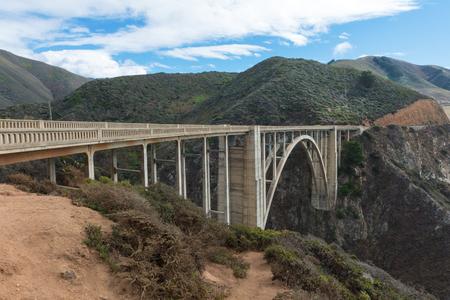 bixby: Bixby Bridge along the Pacific Coast Highway, Big Sur, California Stock Photo