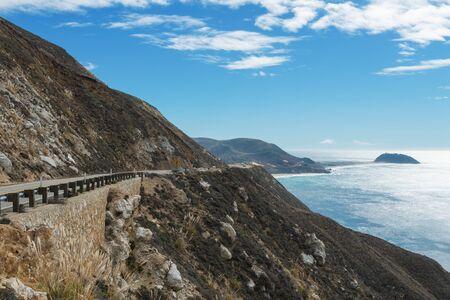 central california: Overcast skies along the central coast, Big Sur, California