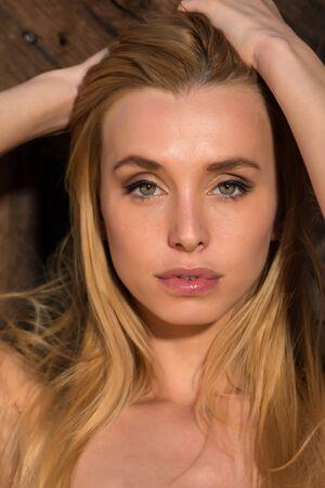 czech women: Closeup on the face of a beautiful Czech blonde