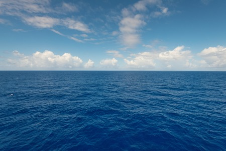 A view of the Atlantic Ocean to the horizon