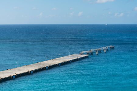 great bay: Unoccupied dock into Great Bay, Philipsburg, Sint Maarten