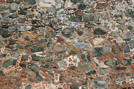 leinster: Old stone wall, Leinster Bay, St. John, U.S. Virgin Islands
