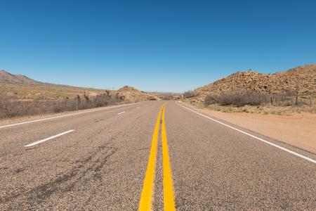 Route 66 through the desert near Hackberry, Arizona