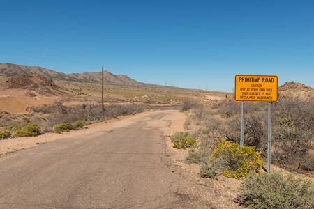 rough road: Rough road through the desert, Hackberry, Arizona