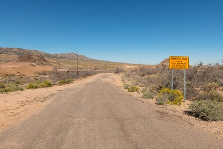 rough road: Rough road through the desert, Hackberry, Arizona