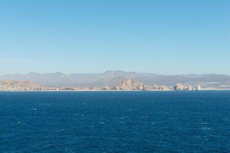 Desert hills and beaches near Cabo San Lucas, Baja California, Mexico