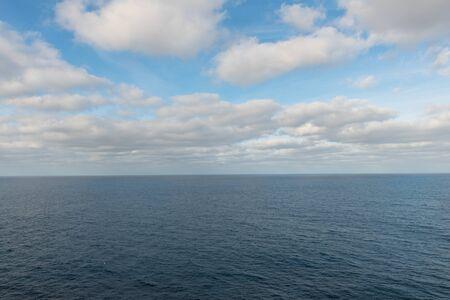 Clouds over the Pacific Ocean, Baja California, Mexico Stock Photo