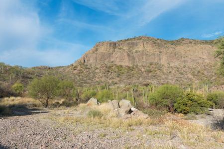Desert landscape near Loreto, Baja California Mexico Stock Photo