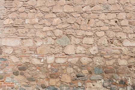 Stone and brick wall, Our Lady of Loreto Mission, Baja California, Mexico Imagens