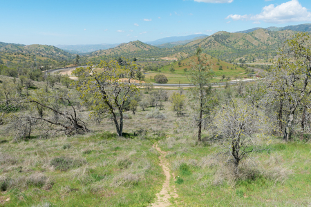 Tehachapi Loop, a spiral of railroad tracks through Tehachapi Pass, California