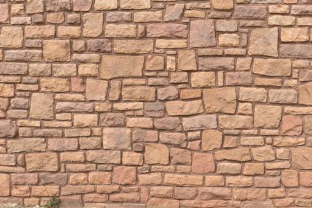 Uneven layers of Navajo sandstone wall, Cameron, Arizona