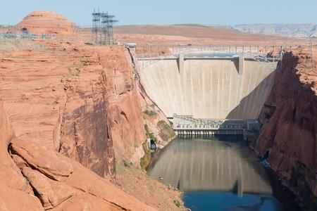 Glen Canyon Dam on the Colorado River, Page, Arizona Stock Photo