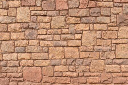 Uneven layers of Navajo sandstone wall, Cameron, Arizona Stock fotó - 77002251