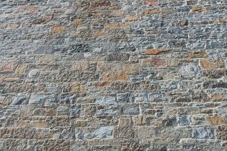 Old stone wall, Montreal, Quebec, Canada