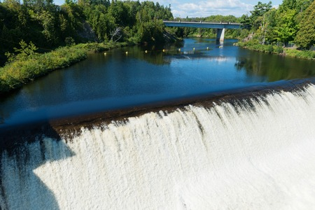 Water rushing down Montmorency Falls, Quebec City, Canada Stock Photo
