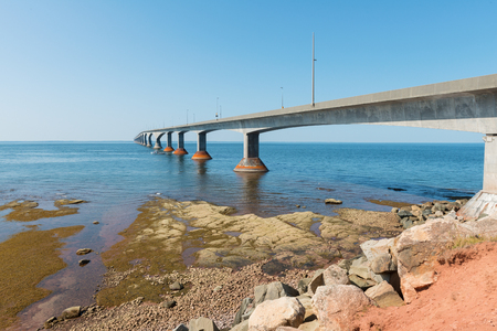 Confederation Bridge connecting Prince Edward Island and New Brunswick, Canada