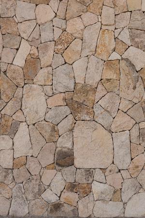 Modern stone wall, La Paz, Baja California, Mexico