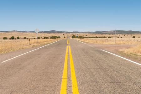 Route 66 through the desert near Crookton, Arizona