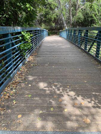 Footbridge to Stevens Creek Trail, Mountain View, California