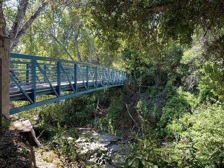 Footbridge over Stevens Creek, Mountain View, California