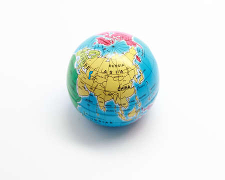 the mainland: Toy Asia globe