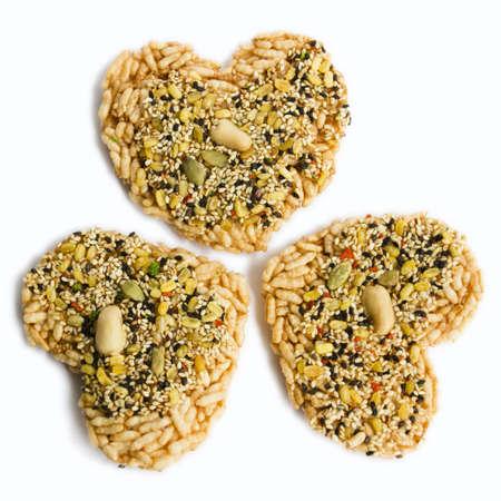 Thai snack in heart shape
