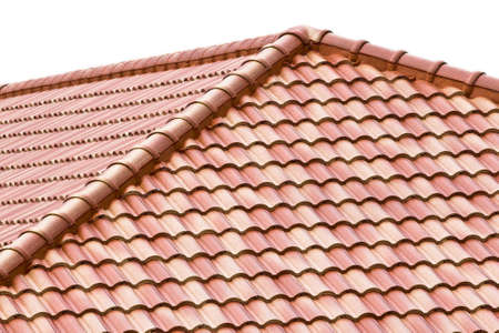red clay: Roof in Thailand