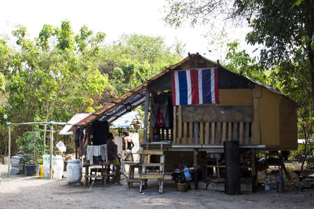 needless: Pattaya Thailand 4 January 2012- The homeless shelter was built in the empty land  Editorial