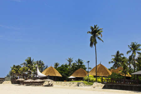 The resort in front of Ngwe Saung beach, Myanmar Stock Photo - 13315826