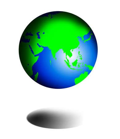 model of globe Stock Photo