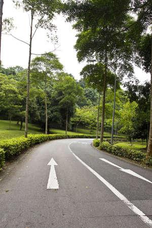 Street on the Mount Faber park, Singapore Stock Photo