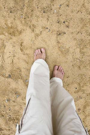 European man walk for Meditation