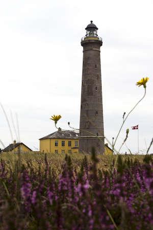 The lighthouse at Skagen, Denmark Stock Photo