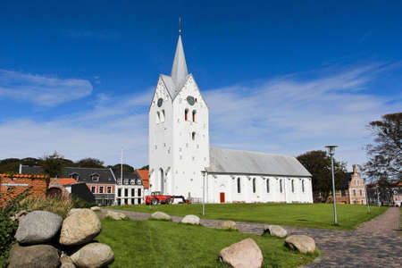 White church at Thisted, Denmark  Stock Photo