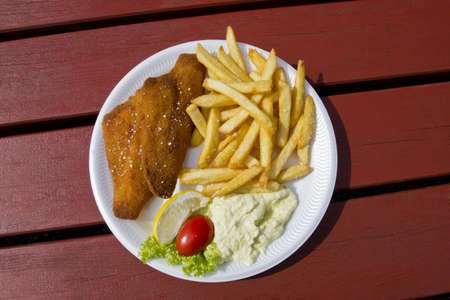 Fried Fish and chips Stock Photo - 15229950