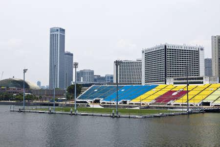SINGAPORE - 8 October 2012  The football stadium at Marina Bay in Singapore city on 11 October 2012  Editorial