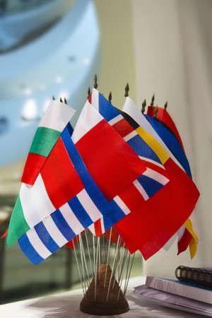 set of world flags member of Eoropean photo