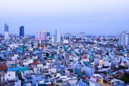 Views of Saigon, Vietnam panorama shot on daytime