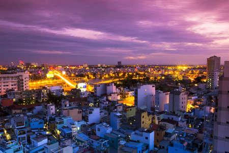 Vietnam Saigon panorama night life