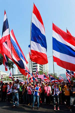 2 February 2014  Thai peoples demonstrate in Bangkok Editorial